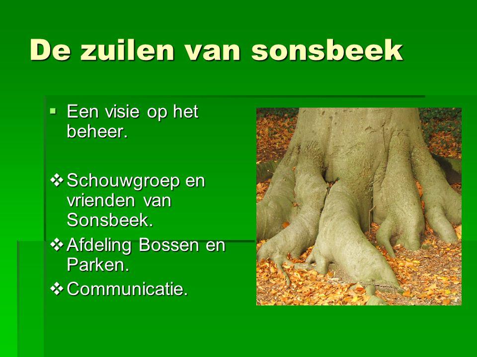 De zuilen van sonsbeek Een visie op het beheer.