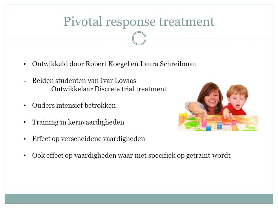 Pivotal response treatment