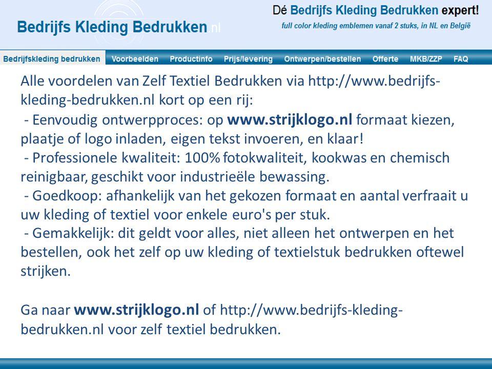 Alle voordelen van Zelf Textiel Bedrukken via http://www