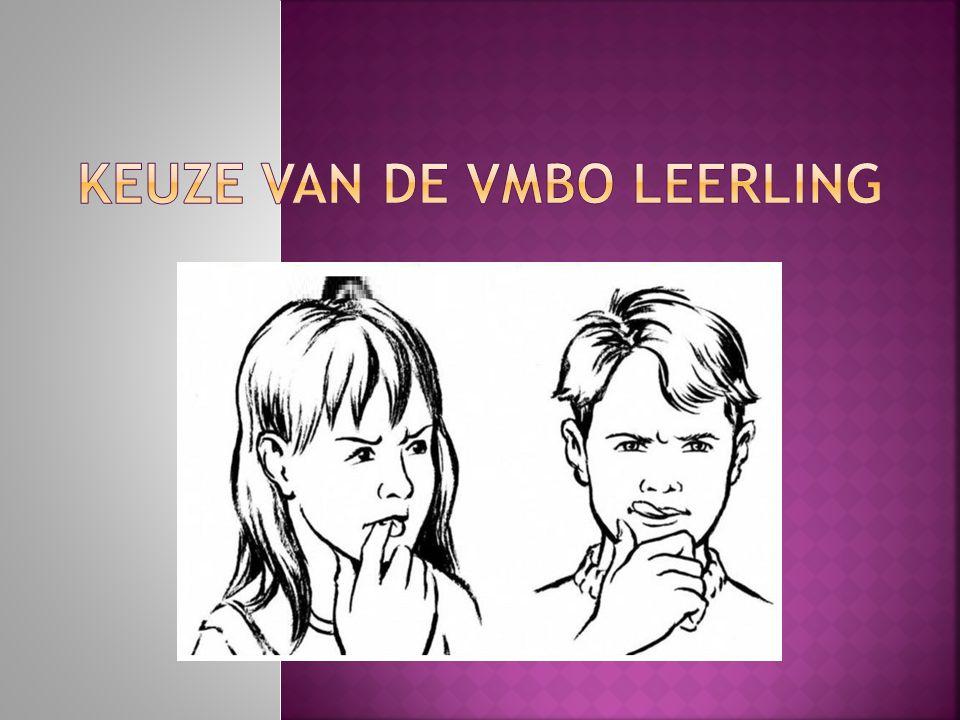 Keuze van de VMBO leerling