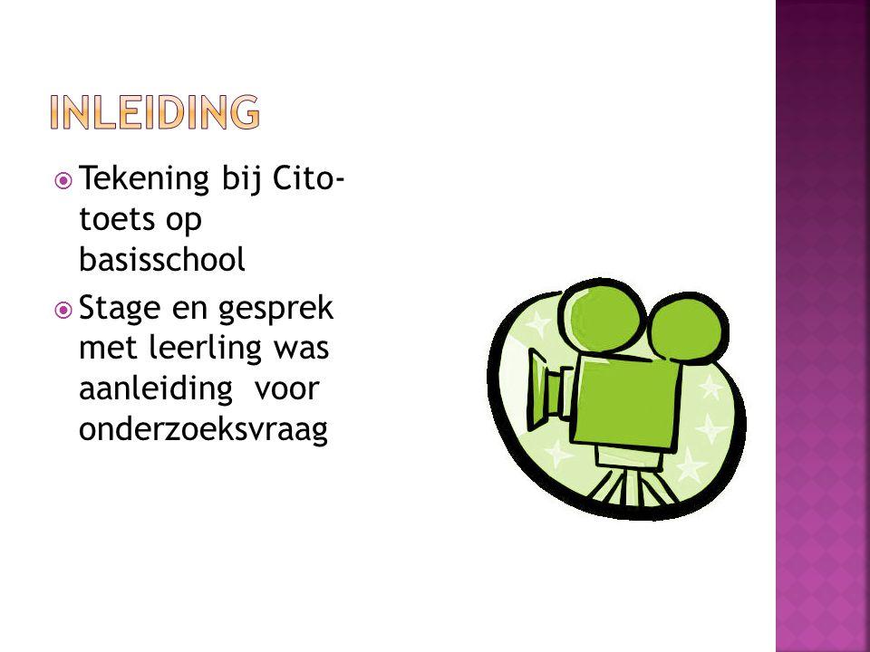 inleiding Tekening bij Cito- toets op basisschool