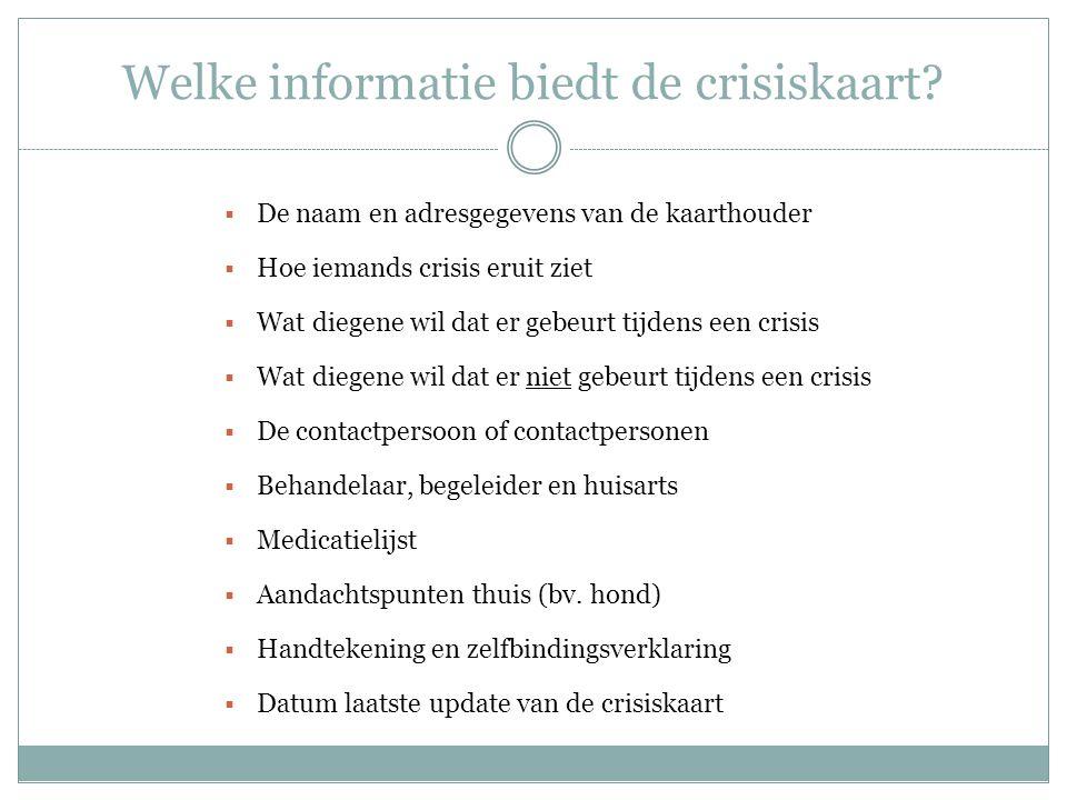 Welke informatie biedt de crisiskaart