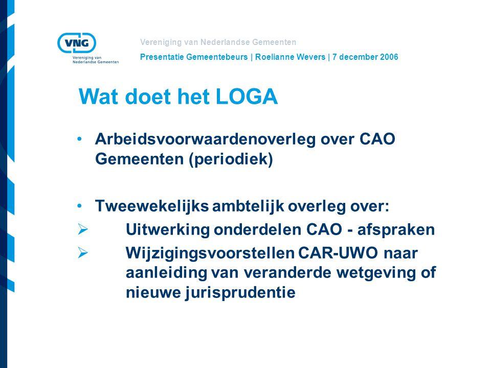 Presentatie Gemeentebeurs | Roelianne Wevers | 7 december 2006