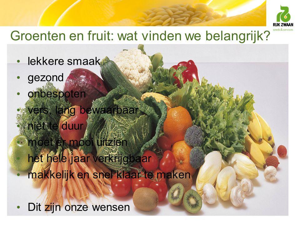Groenten en fruit: wat vinden we belangrijk
