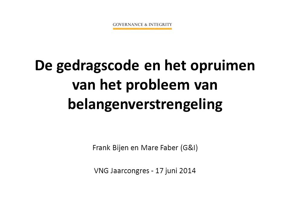 Frank Bijen en Mare Faber (G&I) VNG Jaarcongres - 17 juni 2014