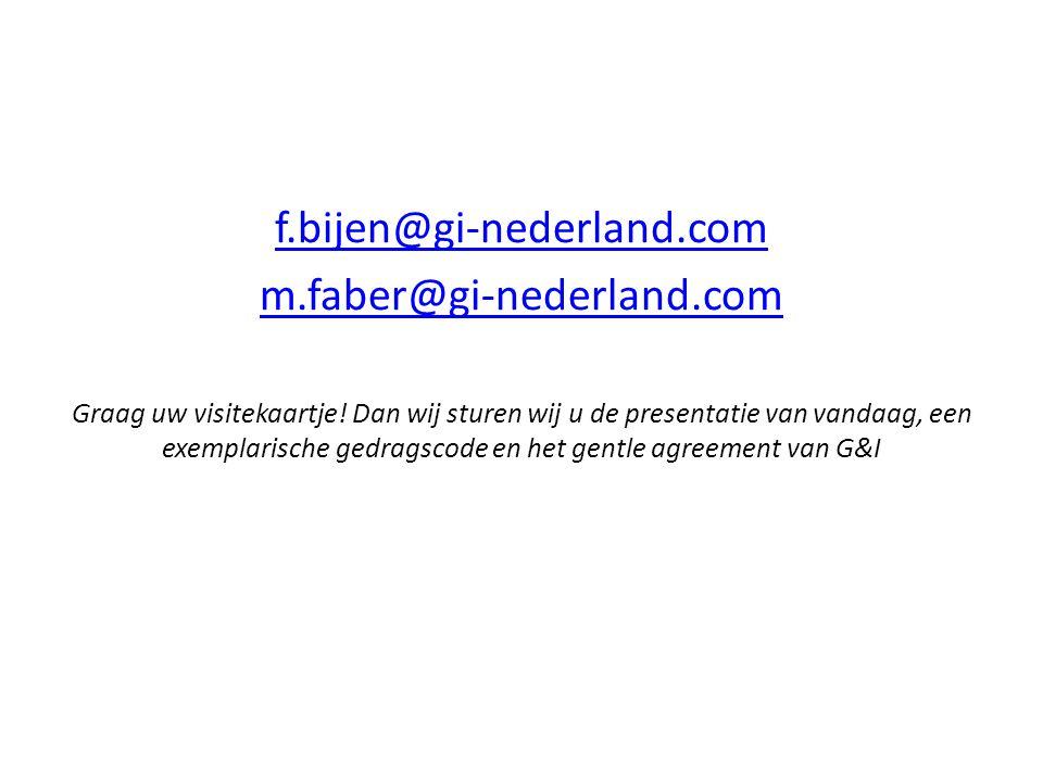f.bijen@gi-nederland.com m.faber@gi-nederland.com