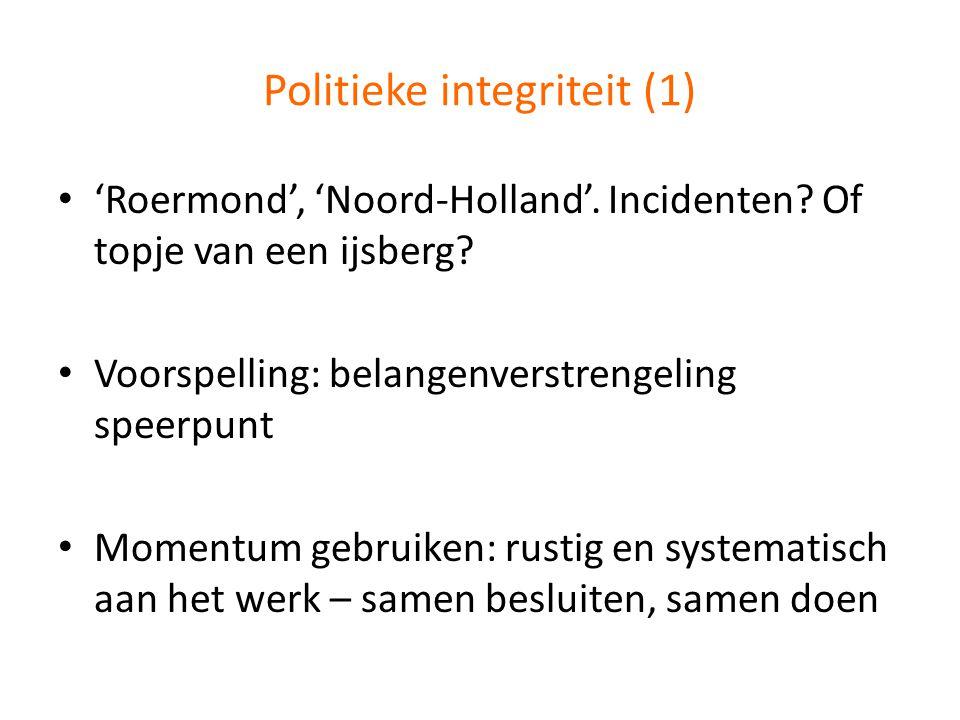 Politieke integriteit (1)