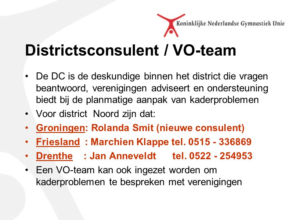 Districtsconsulent / VO-team
