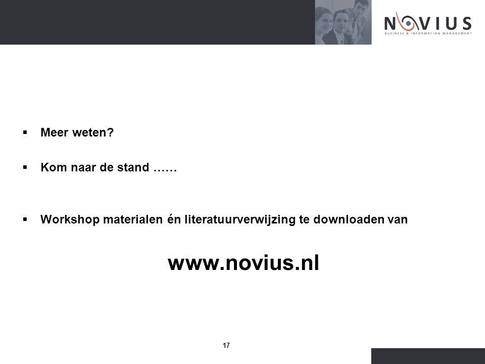 Meer weten. Kom naar de stand …… Workshop materialen én literatuurverwijzing te downloaden van.