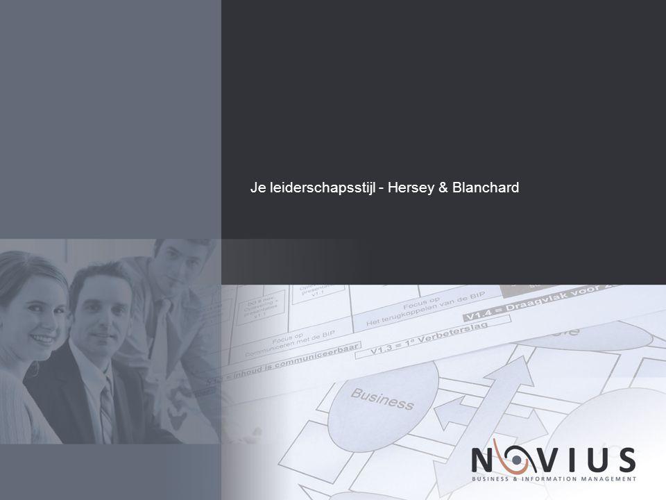 Je leiderschapsstijl - Hersey & Blanchard
