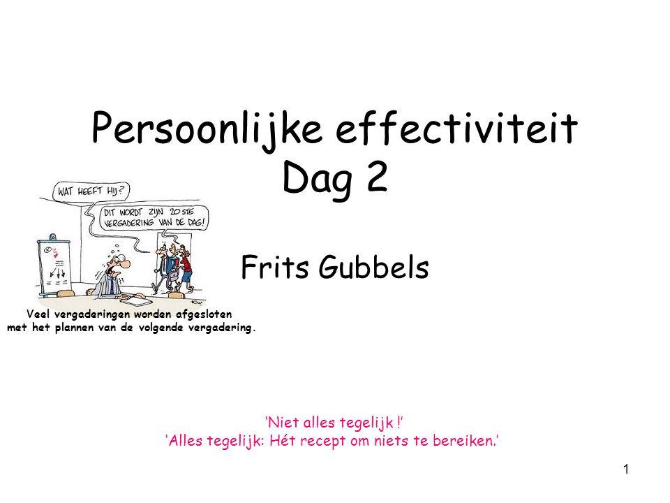 Persoonlijke effectiviteit Dag 2