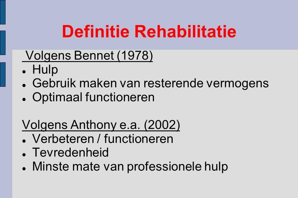 Definitie Rehabilitatie