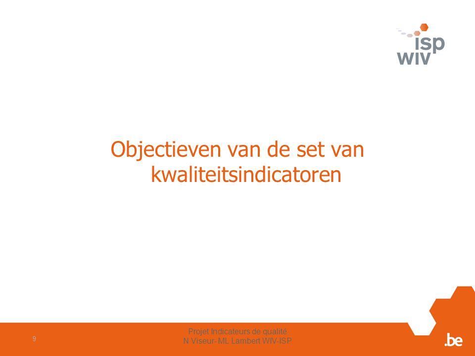 Projet Indicateurs de qualité N Viseur- ML Lambert WIV-ISP