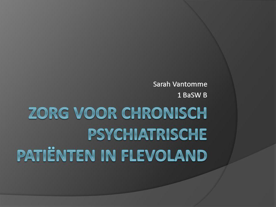 Zorg voor chronisch psychiatrische patiënten in flevoland