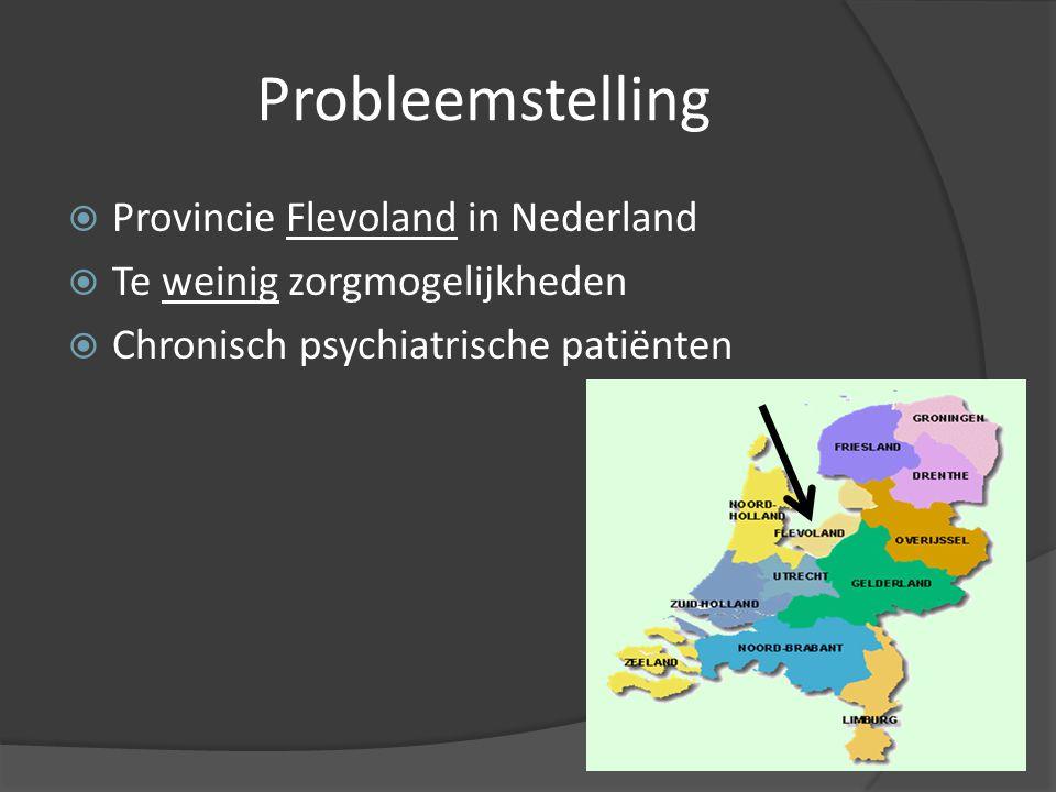 Probleemstelling Provincie Flevoland in Nederland