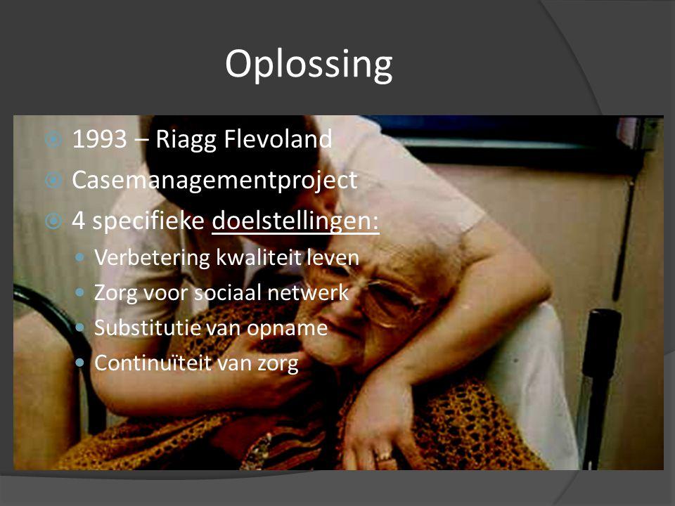 Oplossing 1993 – Riagg Flevoland Casemanagementproject