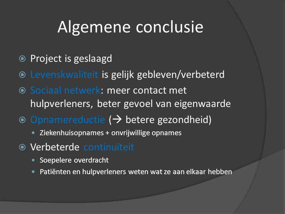 Algemene conclusie Project is geslaagd