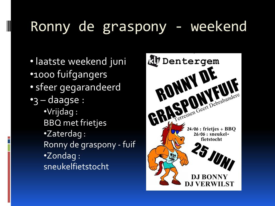 Ronny de graspony - weekend