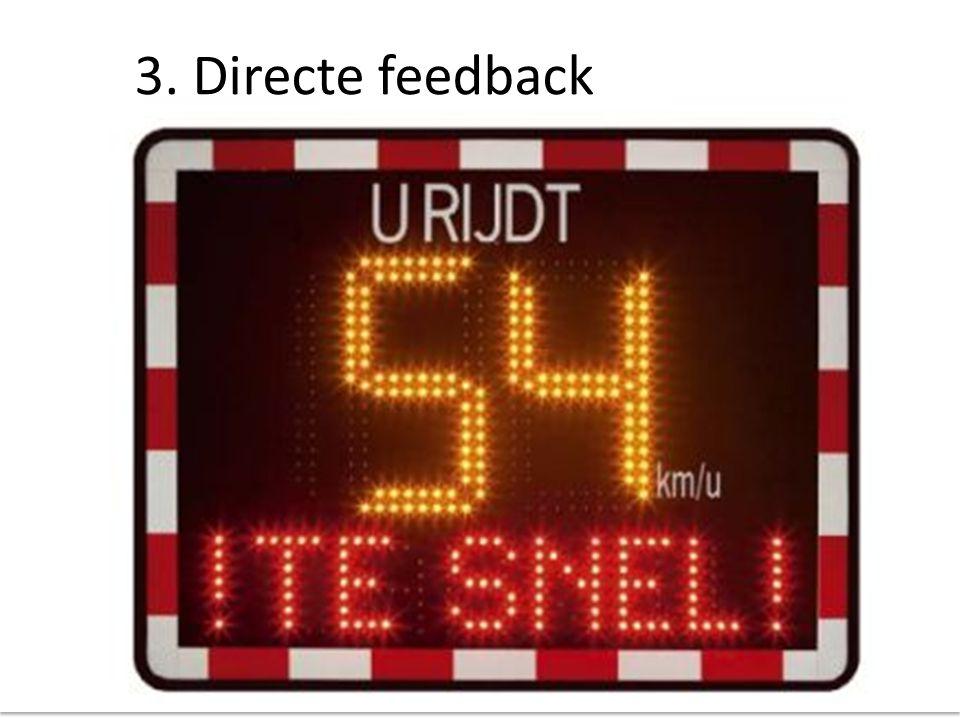 3. Directe feedback Voorbeeld van directe feedback.