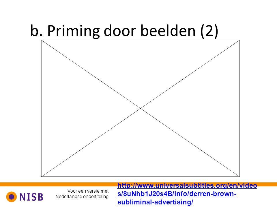 b. Priming door beelden (2)