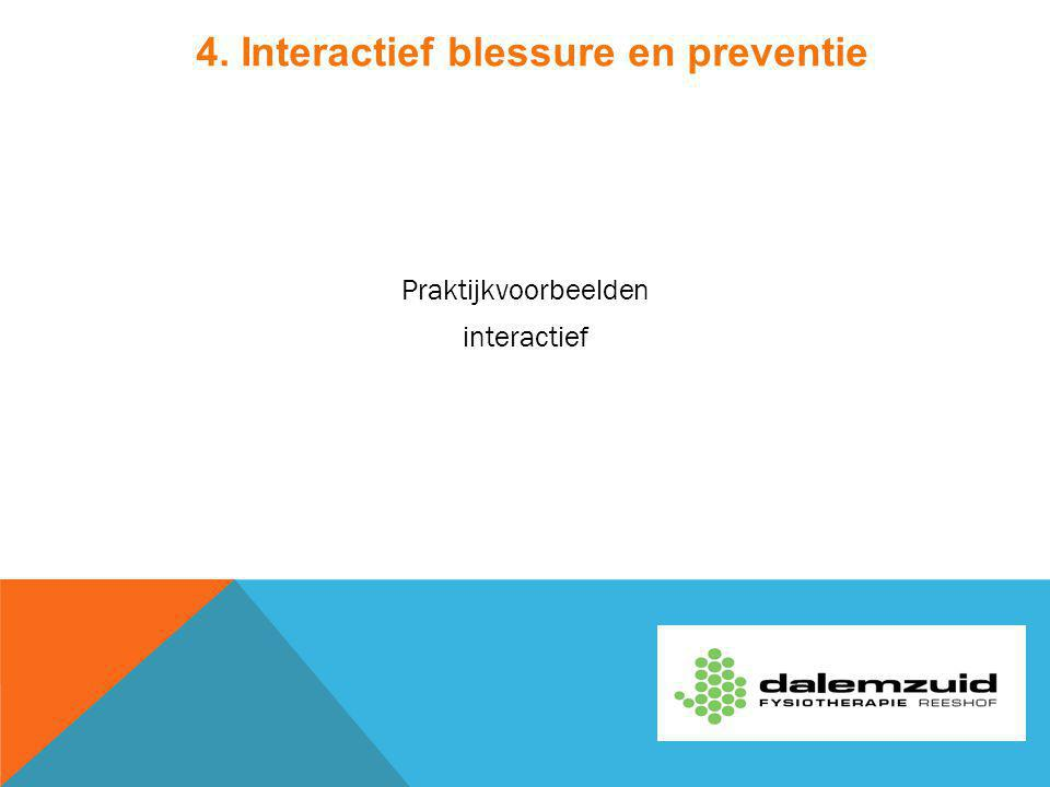 4. Interactief blessure en preventie