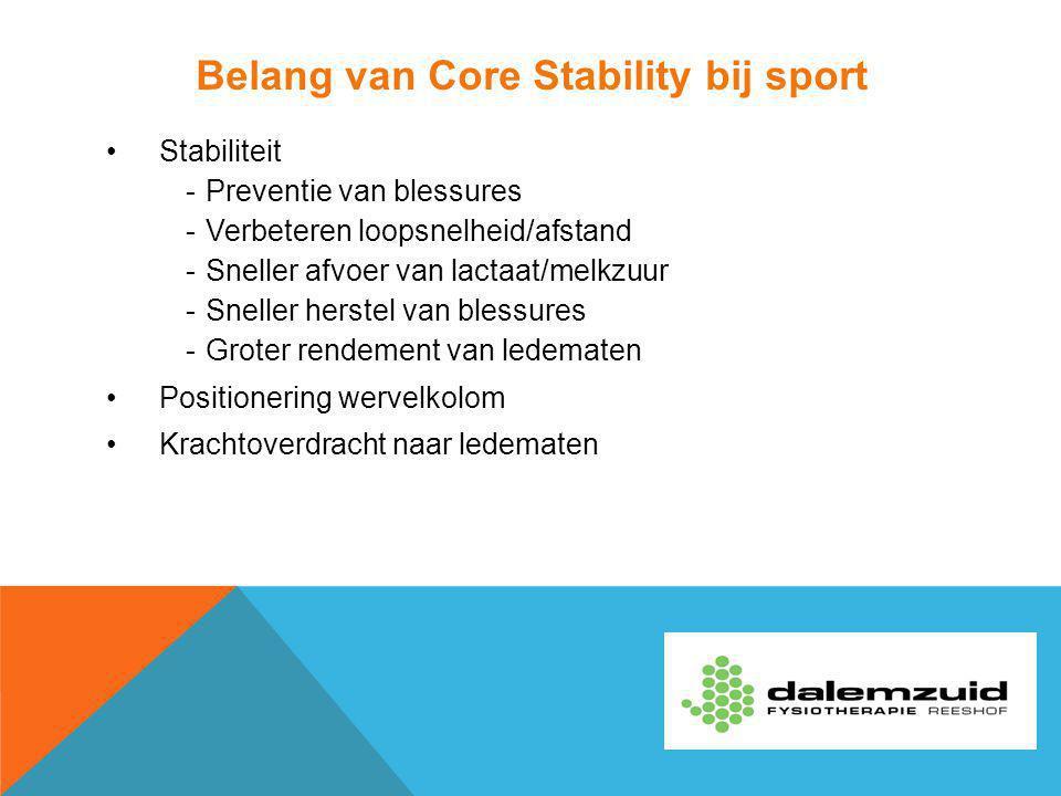 Belang van Core Stability bij sport