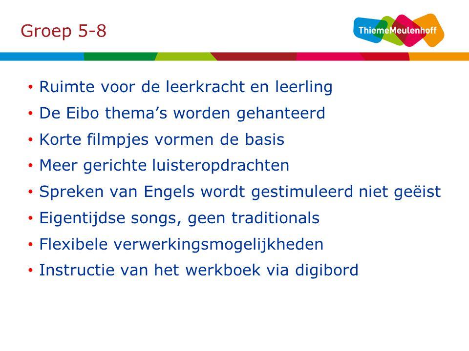 Groep 5-8 Ruimte voor de leerkracht en leerling