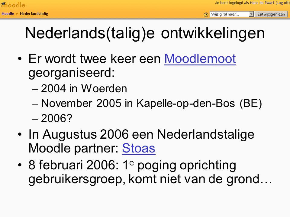 Nederlands(talig)e ontwikkelingen