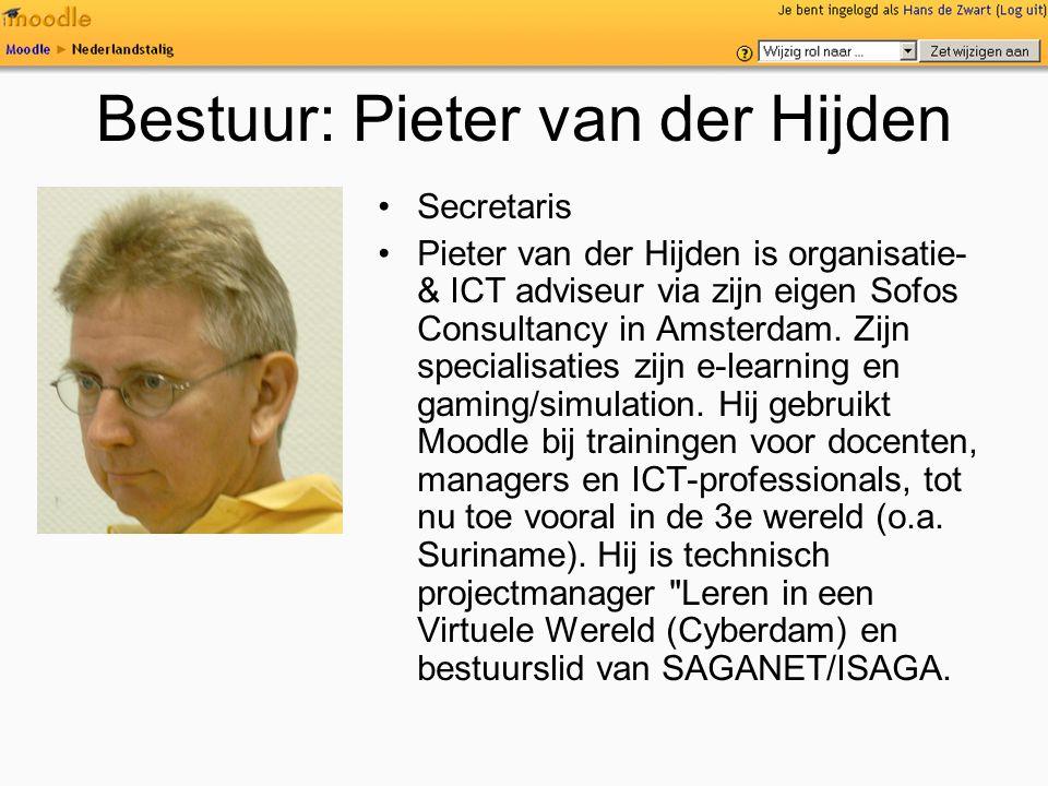 Bestuur: Pieter van der Hijden