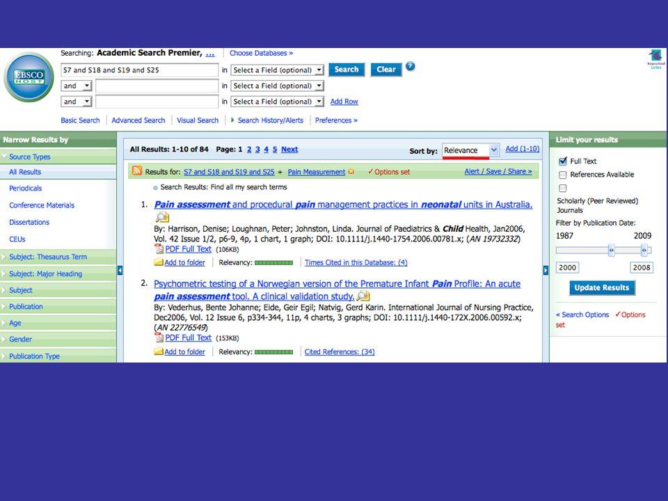 Je kunt de gevonden artikelen sorteren op datum van verschijning van het artikel of op relevantie.