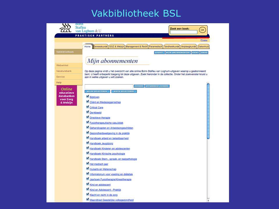 Vakbibliotheek BSL