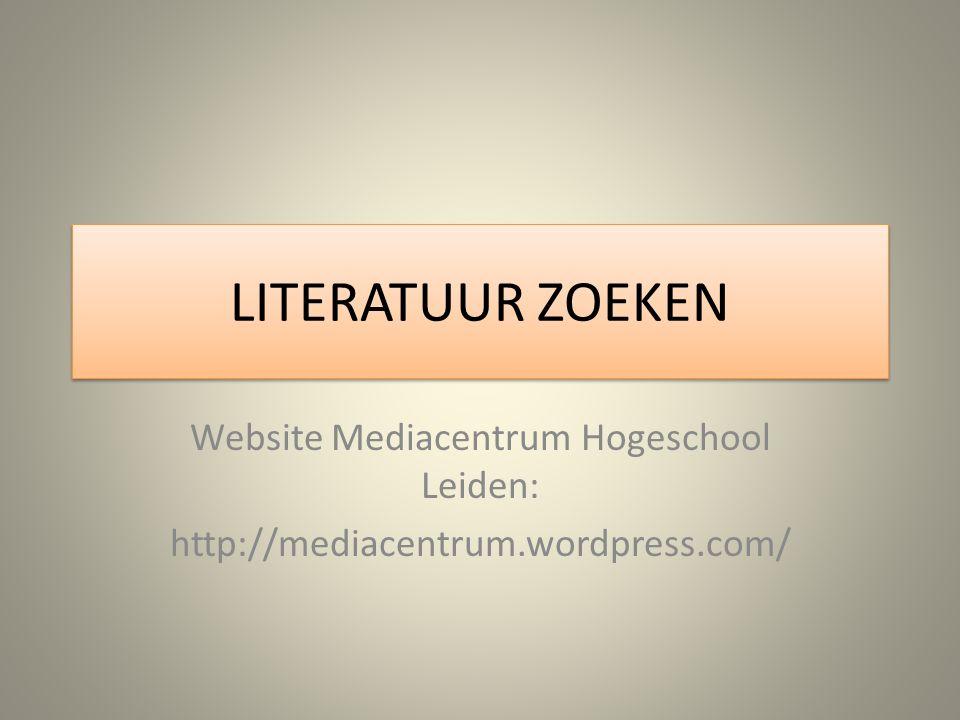 Website Mediacentrum Hogeschool Leiden: