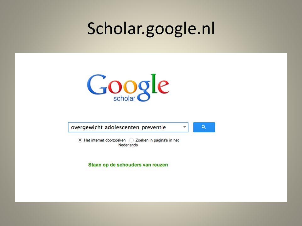 Scholar.google.nl