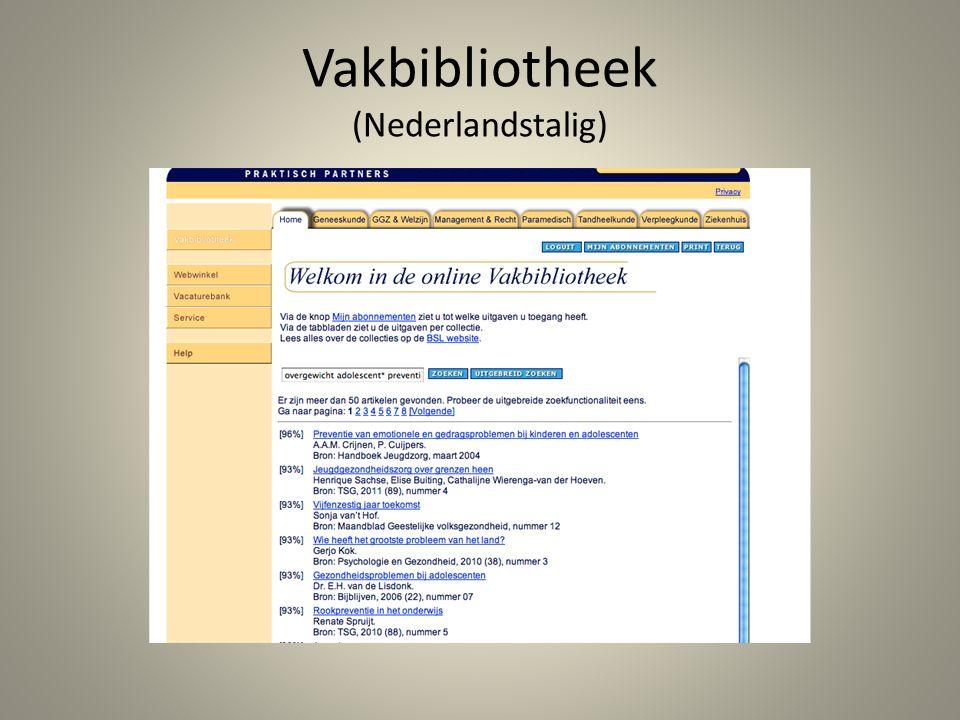 Vakbibliotheek (Nederlandstalig)