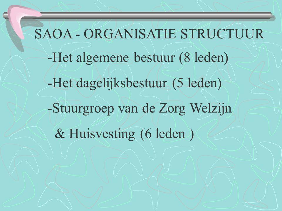 SAOA - ORGANISATIE STRUCTUUR