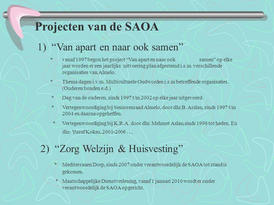 Projecten van de SAOA 1) Van apart en naar ook samen