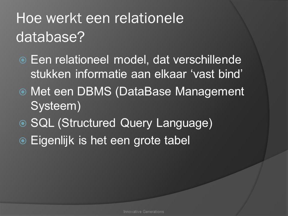 Hoe werkt een relationele database