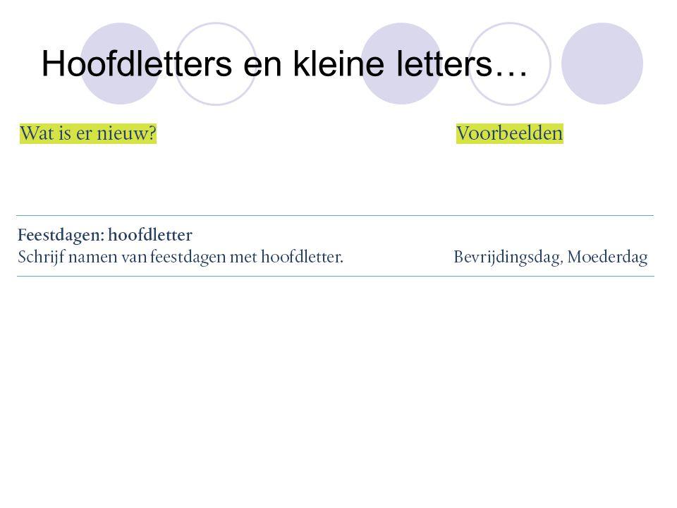 Hoofdletters en kleine letters…