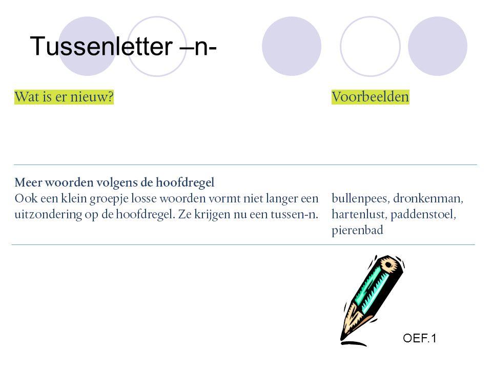 Tussenletter –n- OEF.1