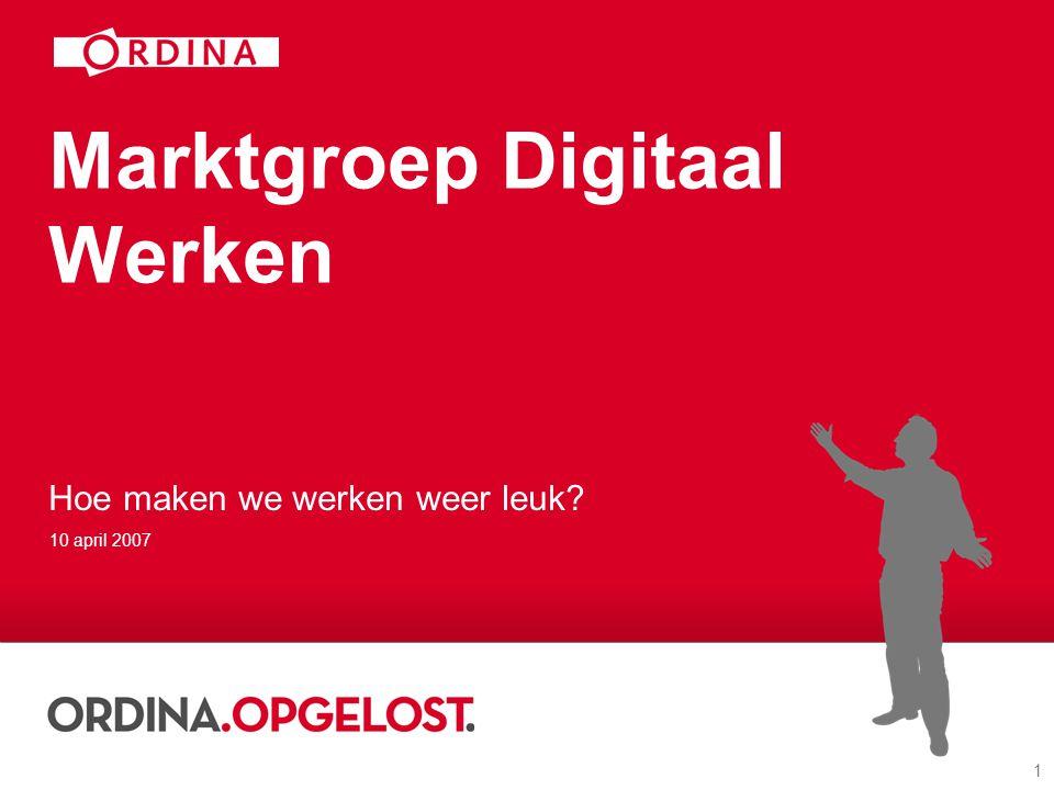 Marktgroep Digitaal Werken
