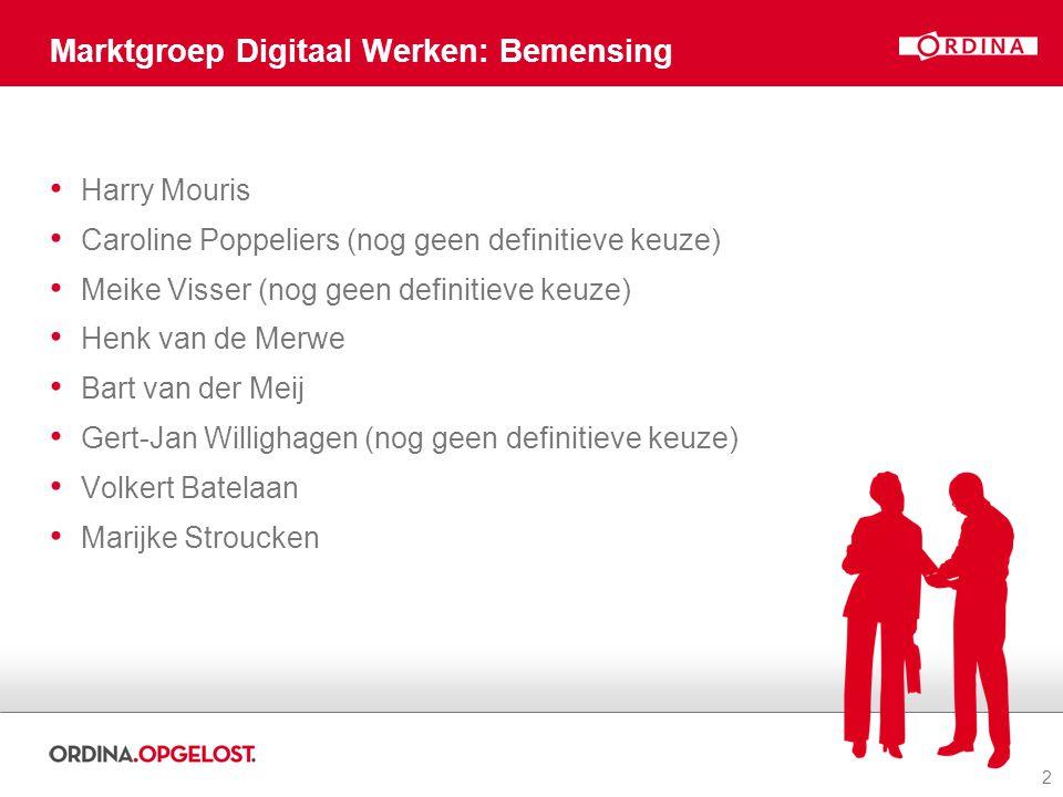 Marktgroep Digitaal Werken: Bemensing