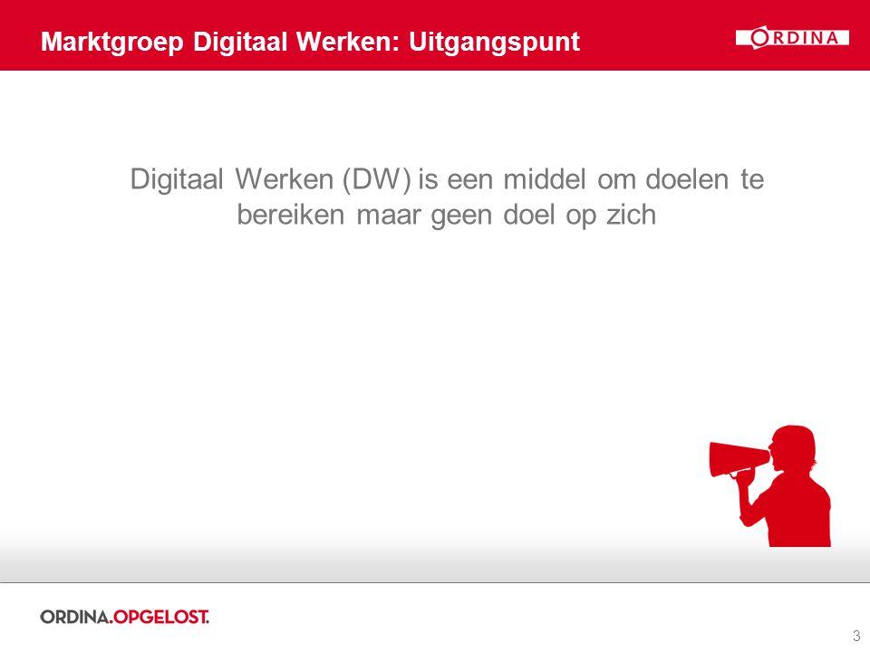 Marktgroep Digitaal Werken: Uitgangspunt