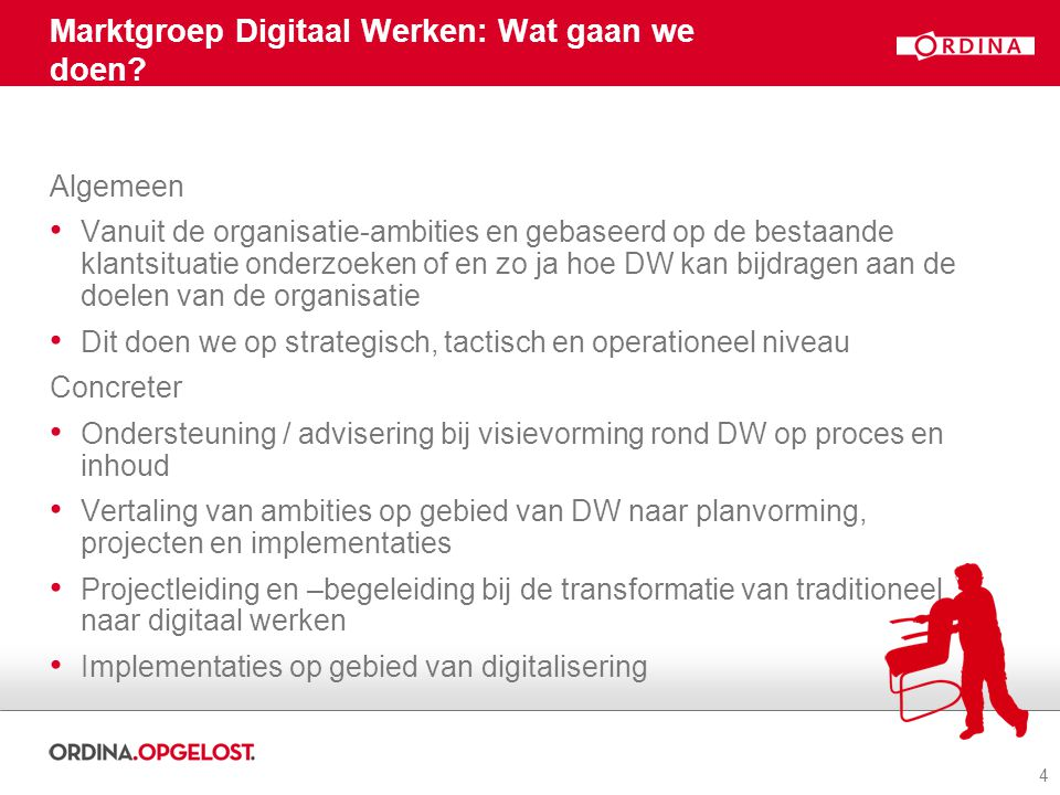 Marktgroep Digitaal Werken: Wat gaan we doen