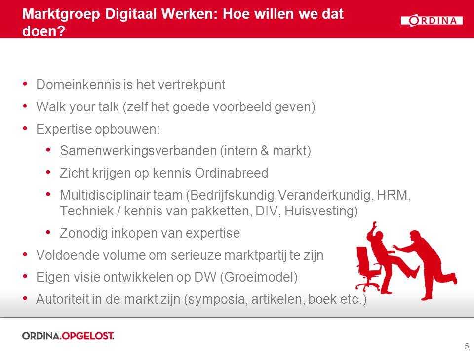 Marktgroep Digitaal Werken: Hoe willen we dat doen