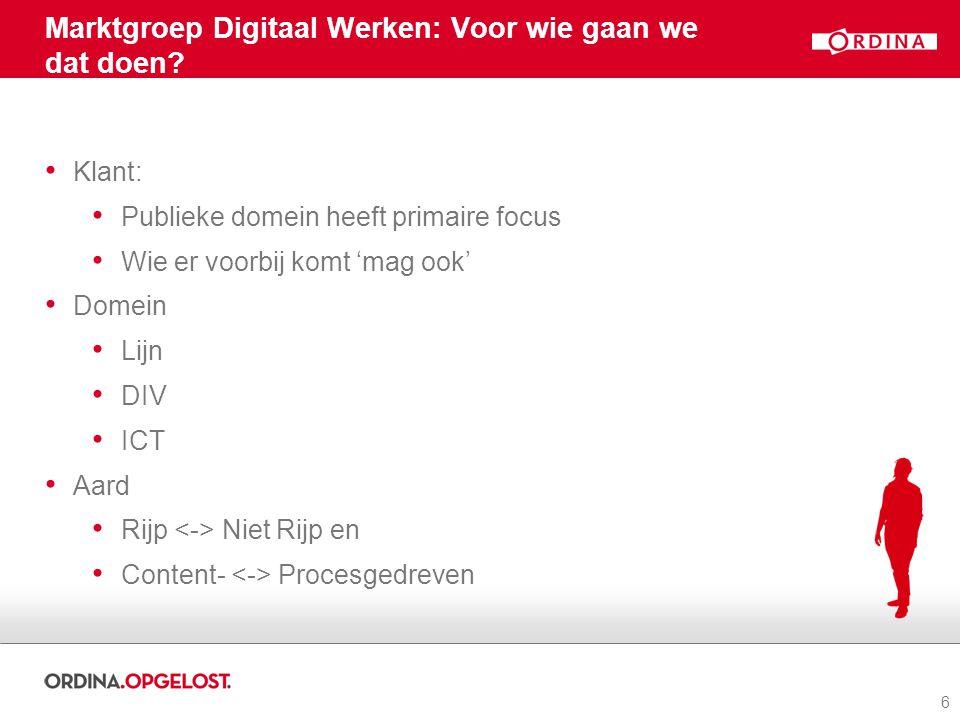 Marktgroep Digitaal Werken: Voor wie gaan we dat doen