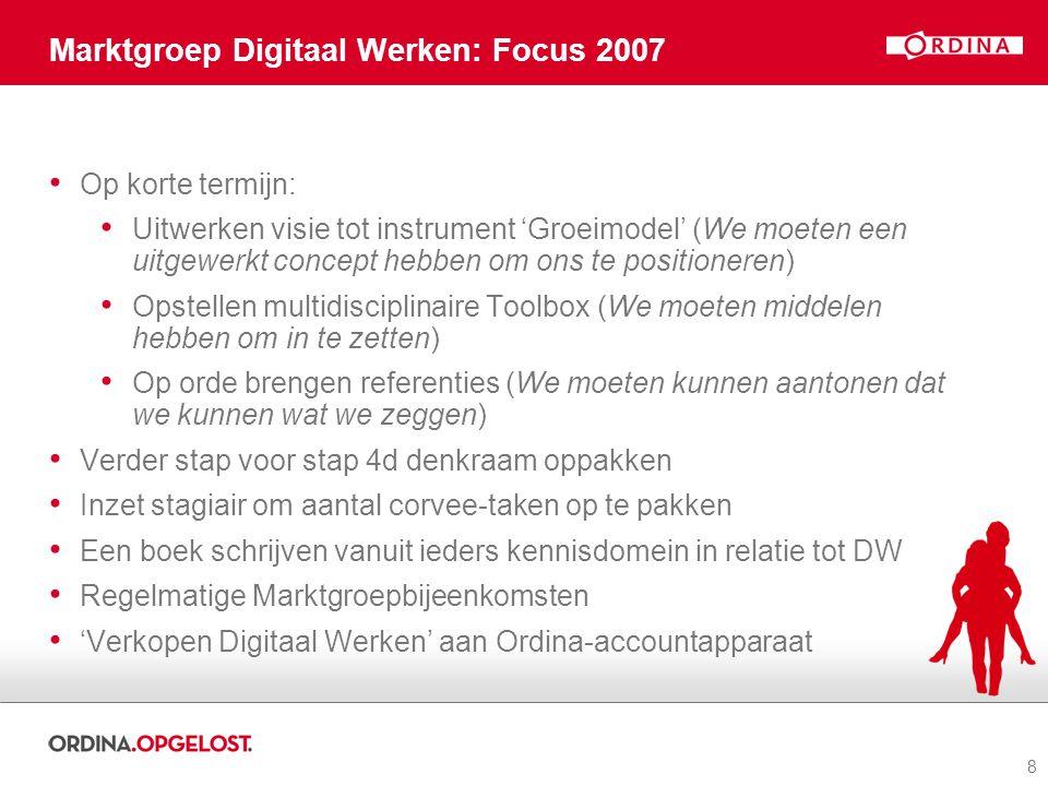 Marktgroep Digitaal Werken: Focus 2007