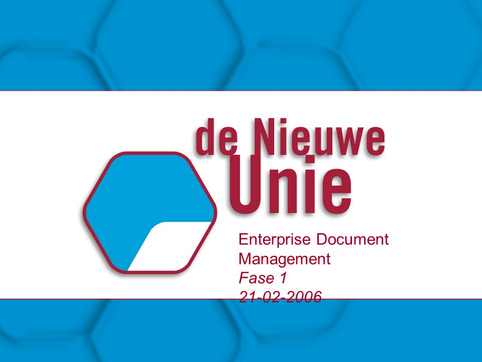 Enterprise Document Management Fase 1 21-02-2006