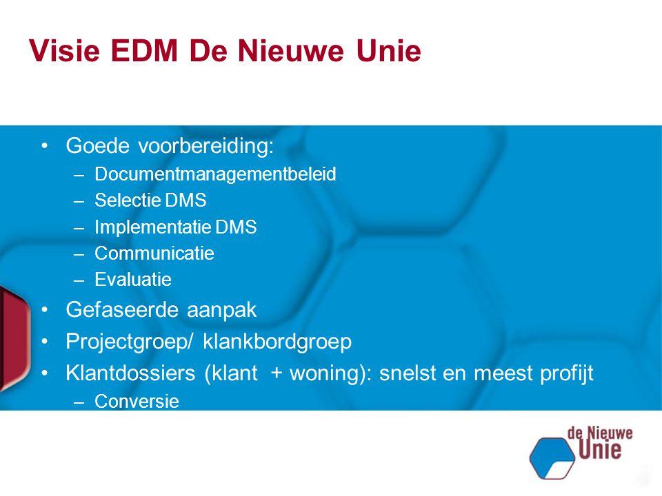 Visie EDM De Nieuwe Unie