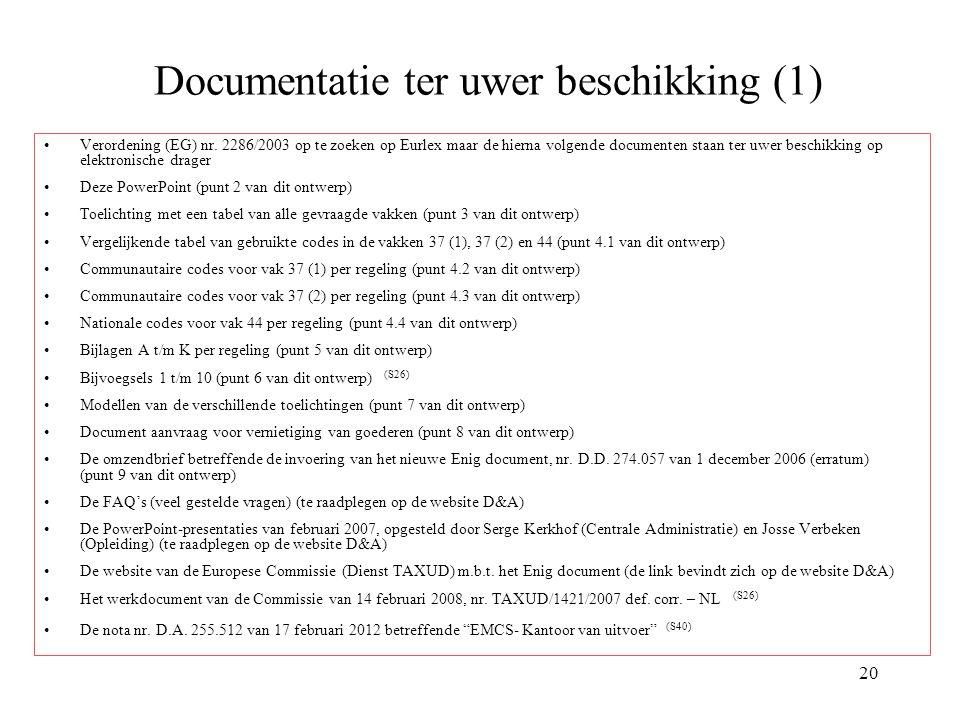 Documentatie ter uwer beschikking (1)