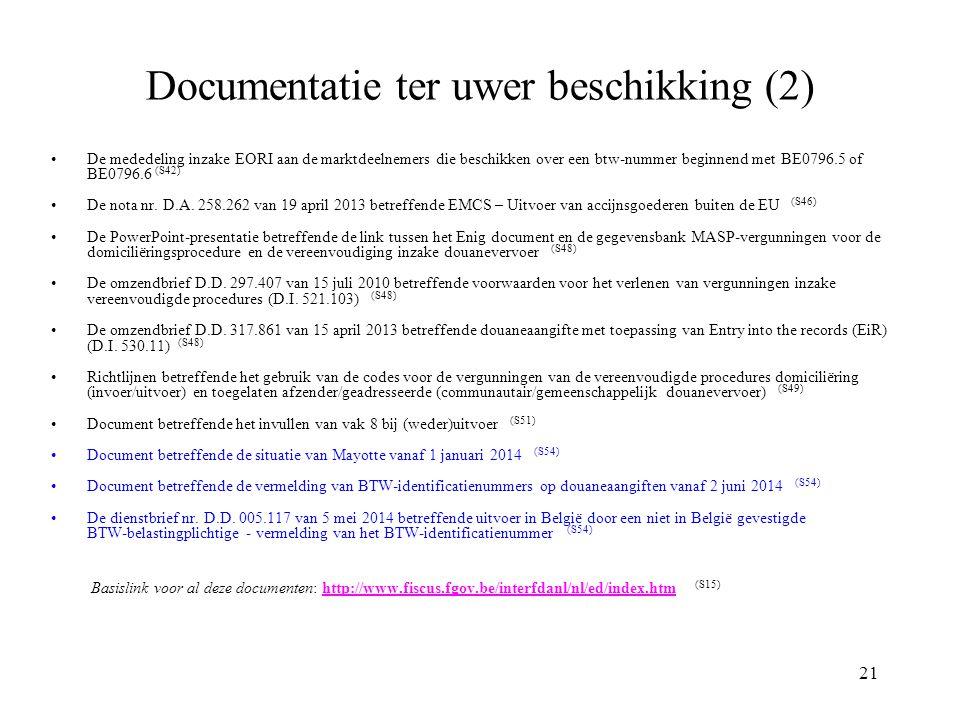 Documentatie ter uwer beschikking (2)